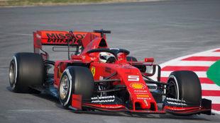 Vettel y su accionar con el monoplaza de Ferrari