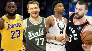 Cuatro grandes de la NBA