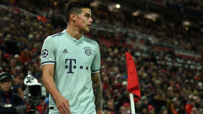 James, durante el partido ante el Liverpool en Anfield
