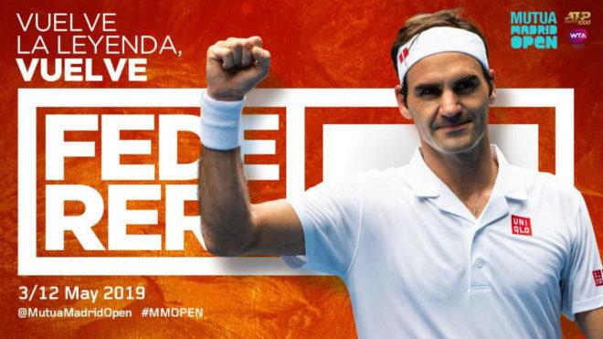 Roger Federer jugará el Mutua Madrid Open — Oficial