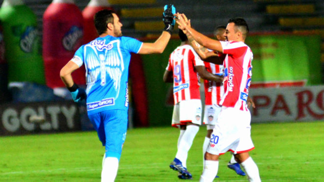 Sebastián Viera y Marlon Piedrahíta festejan el triunfo en Ibagué