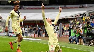 Benedetti festeja su gol ante Pachuca