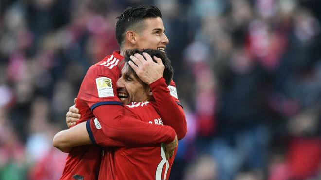 James Rodríguez fue figura en la victoria del Bayern