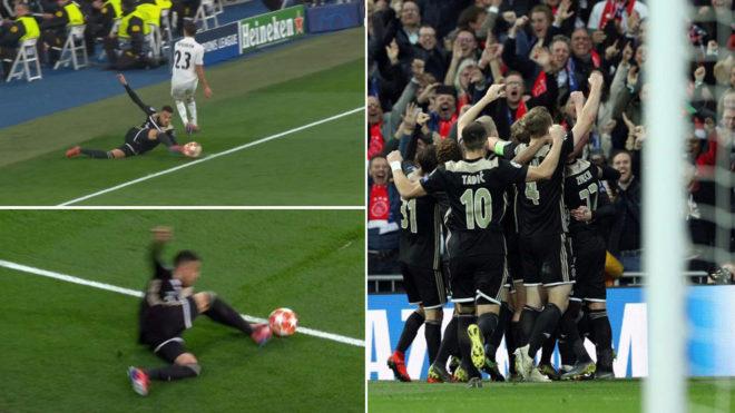 La UEFA explica la actuación del VAR en el Ajax-Real Madrid