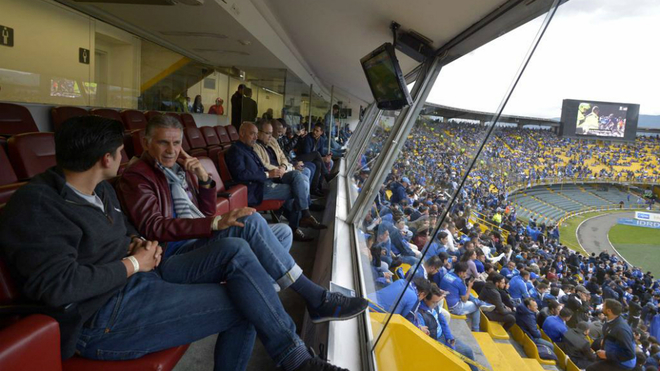Carlos Queiroz asiste al estadio Nemesio Camacho El Campín