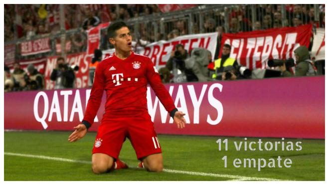 James Rodríguez celebra su gol ante el Wolfsburgo