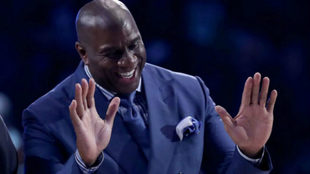 Magic Johnson durante el pasado All Star de la NBA en Charlotte / EFE
