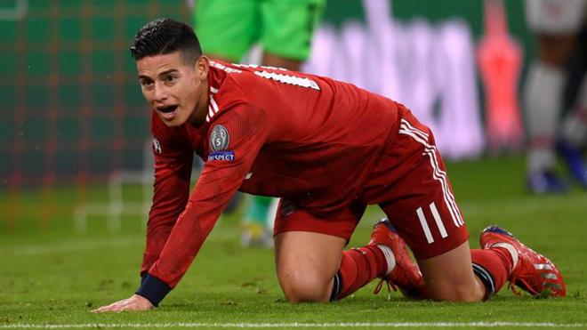 James Rodríguez no tuvo una destacada actuación ante el Liverpool en...