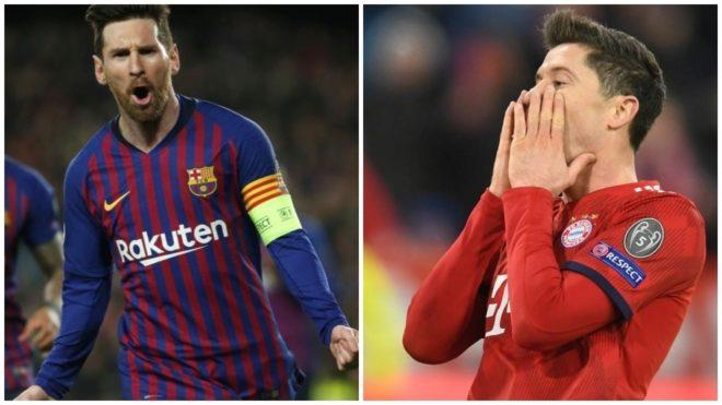Messi y Lewandowski son los goleadores de la actual edición de la Champions.