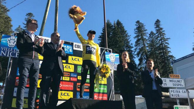 Egan vestido de amarillo / @TeamSky