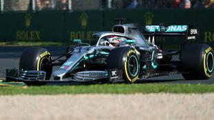 Hamilton, durante la carrera del Gran Premio de Australia
