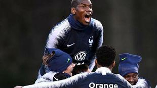 Pogba, en la concentración de la selección francesa