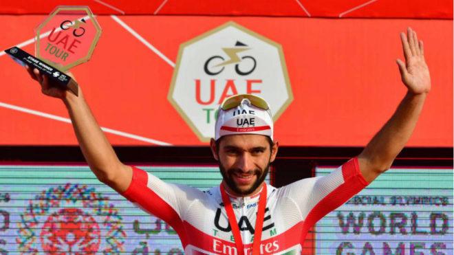 Fernando Gaviria en uno de sus podios en este 2019