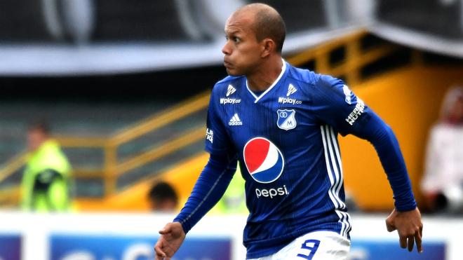 Juan David Pérez durante un compromiso con Millonarios.