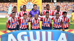 Equipo de Junior formado ante Atlético Huila.