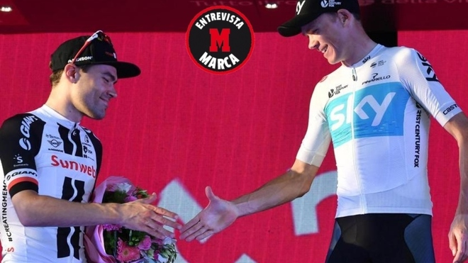 Dumoulin y Froome en el Giro 2018