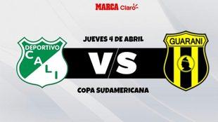 Deportivo Cali vs Club Guaraní por Copa Sudamericana