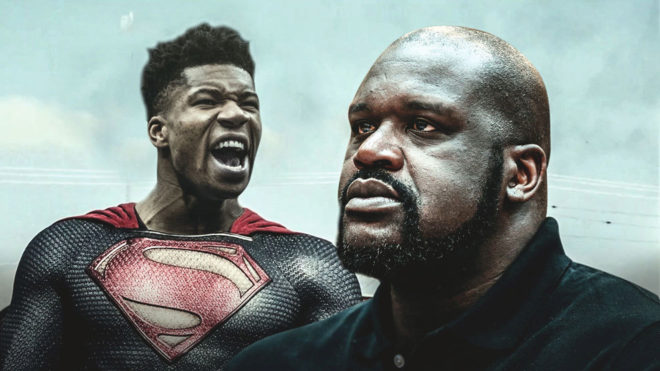 Giannis Antetokounmpo y Shaquille O'Neal