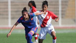 Natalia Gaitán en duelo vs Perú