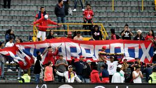 Barra 'Los Chatarreros' durante el partido de la fecha 12...