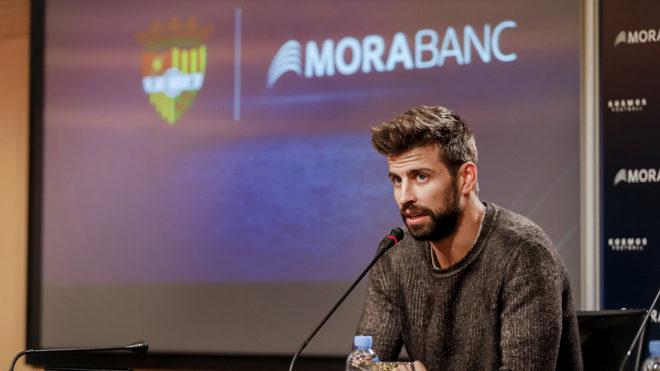 Piqué presentó el FC Andorra en el que estarán Messi y Cesc