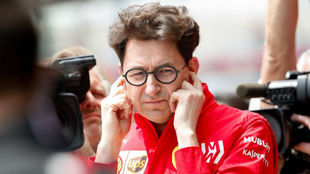 Mattia Binotto, durante el GP de China.