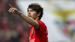Joao Félix, celebrando un gol.