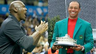 Michael Jordan y Tiger Woods