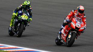 Dovizioso, por delante de Rossi. MotoGP.com