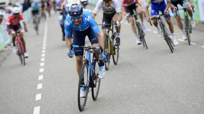 Valverde durante la Amstel Gold Race del año pasado