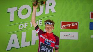 Geoghegan, en el podio Pentaphoto / Tour of the Alps