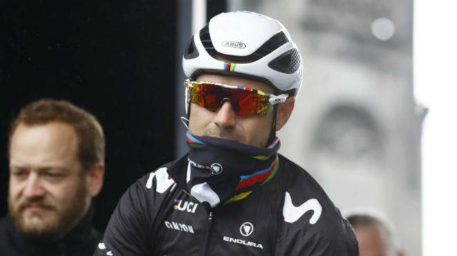Valverde no tuvo suerte en las Ardenas de este año