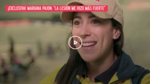 La doble medallista olimpica de oro, Mariana 'La Tata'...