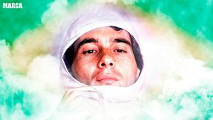 Ayrton Senna, piloto fallecido.