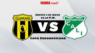 Club Guaraní vs Deportivo Cali por Copa Sudamericana
