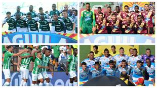 Cali, Tolima, Nacional y Junior, los cuatro clubes del grupo B.