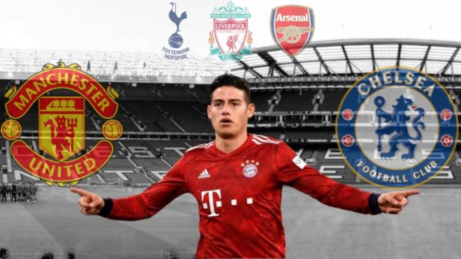 Posibles traspasos del mercado de pases — James Rodríguez