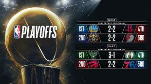 Las semifinales están que arde en la NBA