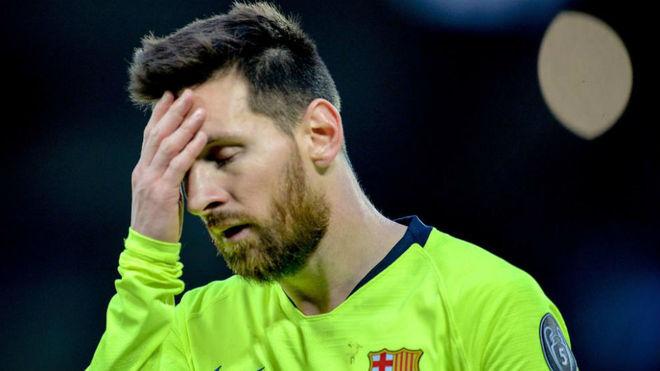 Messi, durante el partido ante el Liverpool