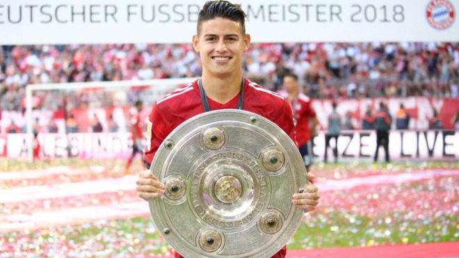 James, con su primera ensaladera con el Bayern