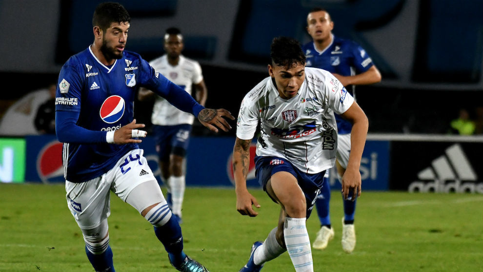 Unión visitó Bogotá y se fue goleado por 4-0.