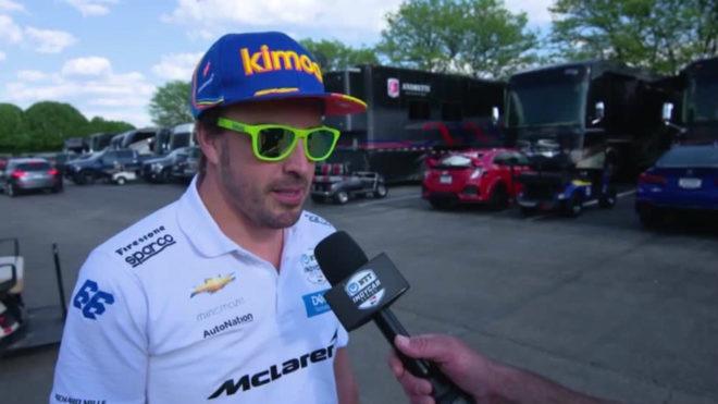 Alonso habla de inicio discreto en la Indy500