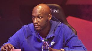Lamar Odom en el draft de la BIG 3 / AFP
