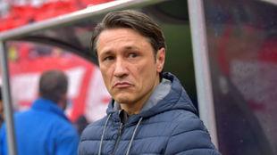 Kovac, serio en el banquillo de del Bayern.