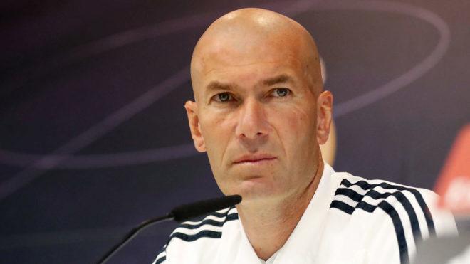 Zidane, durante la rueda de prensa previa al duelo ante el Betis