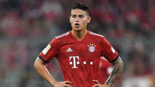 James, durante un partido con el Bayern