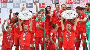 Así fue la celebración del Bayern