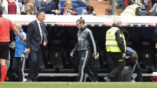 Bale se retira tras el final del partido ante el Betis