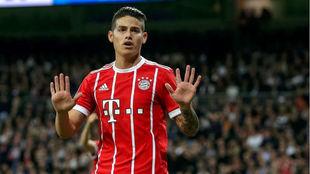 James pide perdón al Bernabéu tras marcarle con el Bayern