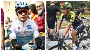 Miguel Ángel López y Esteban Chaves en el Giro 2019